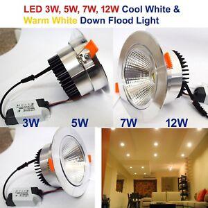 Nuevo-3-W-5-W-7-W-12-W-COB-LED-Proyectores-Empotrables-ajuste-del-angulo-de-techo-lamparas