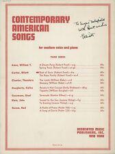 """Elliott CARTER (Composer): """"Dust of Snow"""" - Signed Score"""