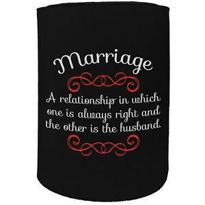 Image Is Loading Stubby Holder Marriage Wife Husband Funny Novelty Birthday
