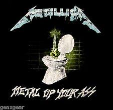 METALLICA cd lgo METAL UP YOUR ASS Official SHIRT XXL 2X New vin