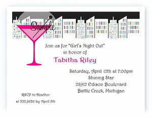 12 personalized custom bachelorette party girls night invitations ebay
