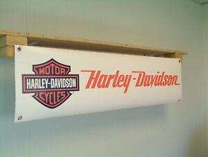 Harley-Davidson-Motorcycle-Banner-Sign-Workshop-pvc-poster