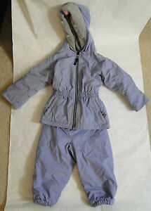 Girls' Clothing (newborn-5t) 2019 New Style Girl's Ll Kids Ll Bean Two Piece Snowsuit Size 2t Color Periwinkle Blue To Invigorate Health Effectively