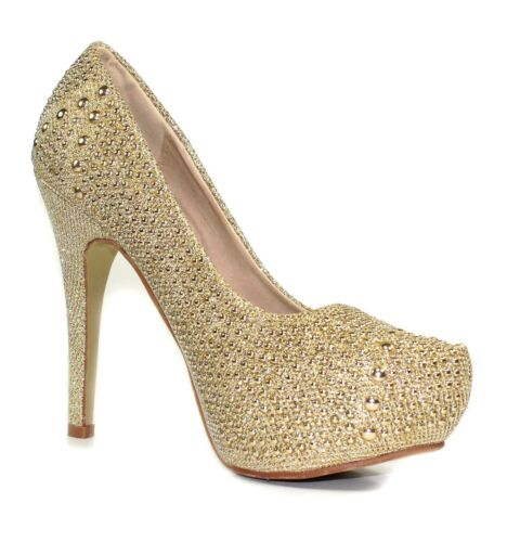 """GG-GN-10 New Fashion Blink Party Wedding Prom Pumps 5/"""" High Heel Women/'s Shoes"""