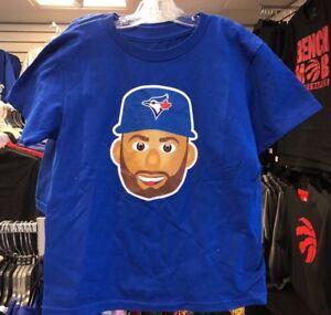 Toronto-Blue-Jays-Kevin-Pillar-Emoji-Royal-Name-Number-T-Shirt-Kids-Large-Age-6x