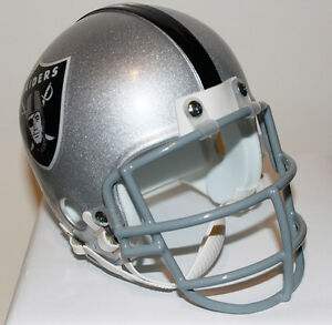 26dcb5274 Bo Jackson Oakland Raiders Riddell Custom Mini Helmet w  Metal Face ...