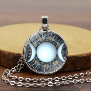 Triple-Goddess-Witchcraft-Pendant-Moon-Goddess-Moon-Chain-Necklace-Jewelry