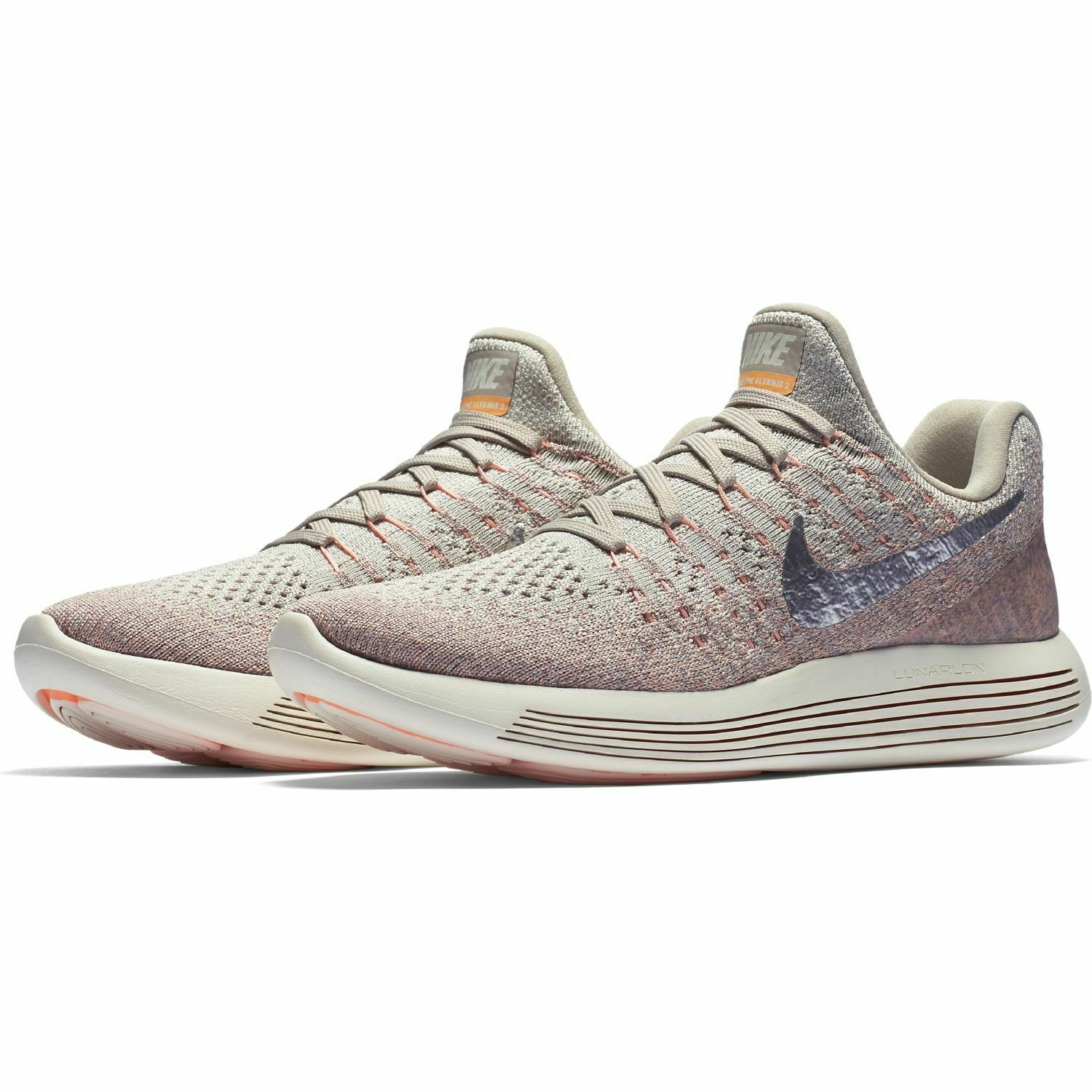Nike Wmns Lunarepic Low Flyknit 2 Pale Grey 863780-005 Size 8.5 UK