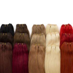 Weft-Extensions-Tresse-100-indisches-Remy-Echthaar-Haarverlaengerung-45-50-60cm