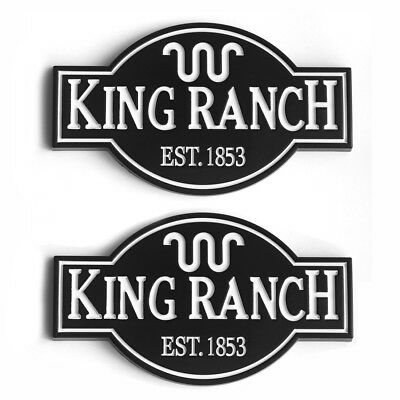 2x OEM King Ranch Emblems Badge 3D Door Tailgate for F150 F250 F350 W2 Bk White