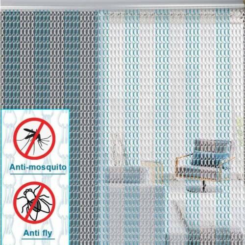 Aluminium Metal Chain Door Curtain Strip Fly Pest Control Blind Screen 90*214cm