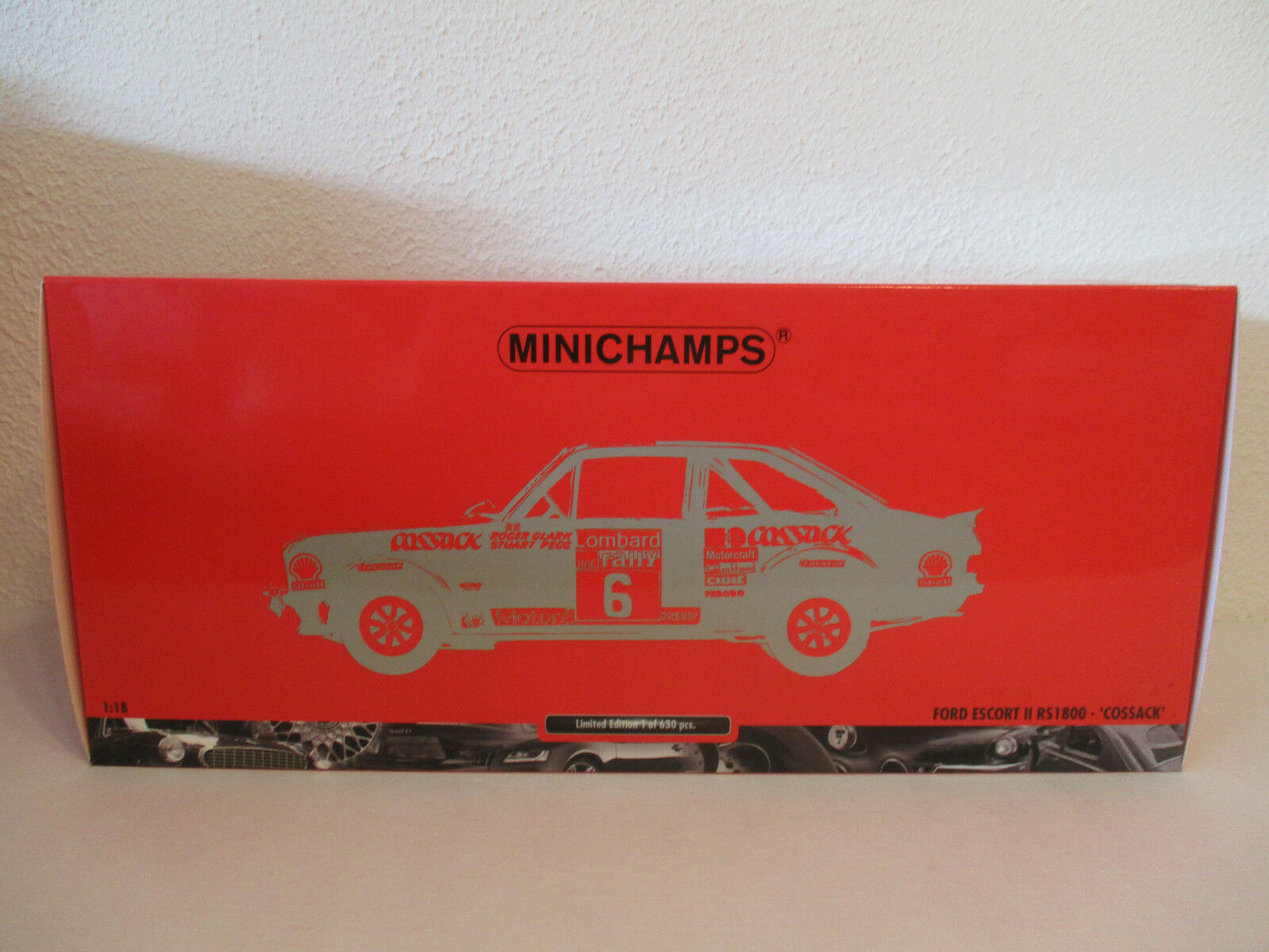 (Gol ) 1 18 Minichamps Ford Escort II Rs 1800 Cossack Rally 1976 Nip