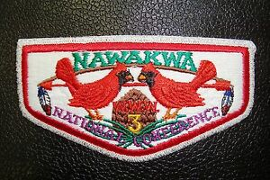 OA-NAWAKMA-LODGE-3-ROBERT-E-LEE-COUNCIL-CARDINAL-SMY-1996-NOAC-DELEGATE-FLAP