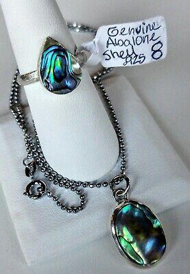 Sterling Silver Abalone Paua Shell Pendant