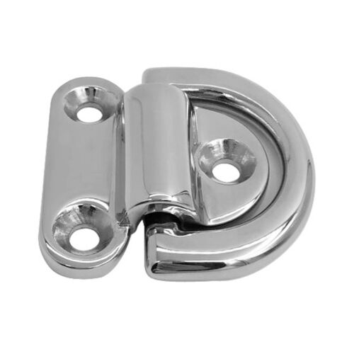 316 Stainless Steel Small Folding Pad Eye Deck Lashing Ring Staple Cleat