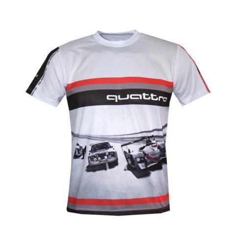 Audi S-Line T-shirt Quattro Maglietta Paddock camiseta DTM//Voyage Cadeau RS4 RS6