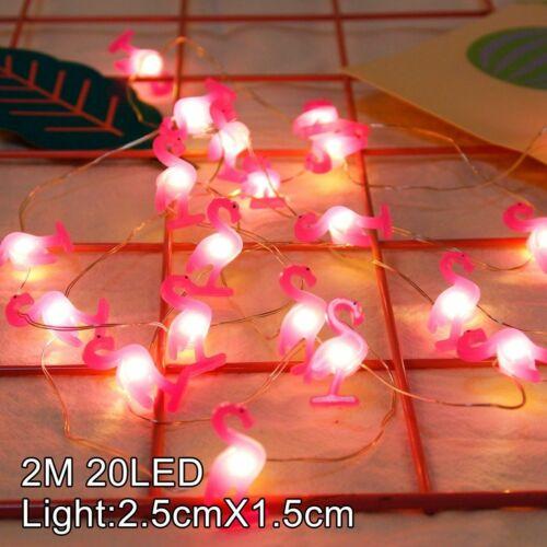 Hot 2M 20 LED Unicorn Flamingo String Lights Fairy Battery Christmas Party Decor