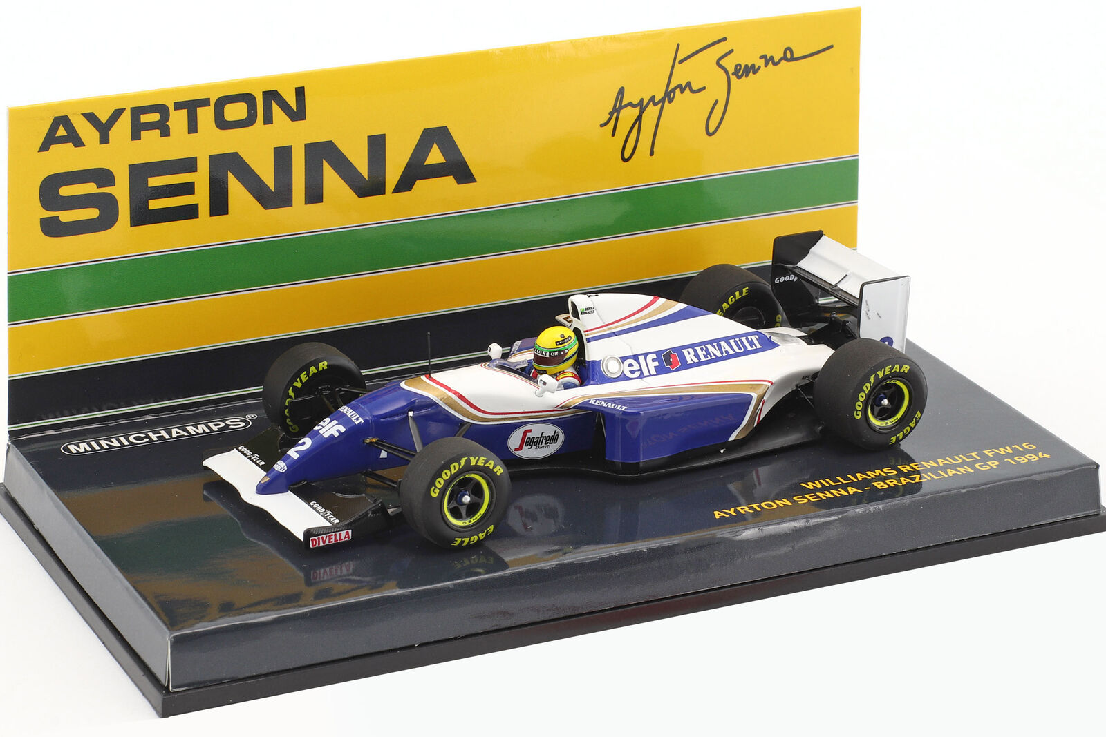 Ayrton Senna  Williams FW16  2 Brésilien Gp Formule 1 1994 1 43 Minichamps  mode