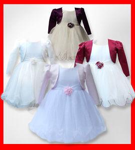 Baby Girls Bolero Cardigan Christening Wedding Bridesmaid 0-3 Months Pink