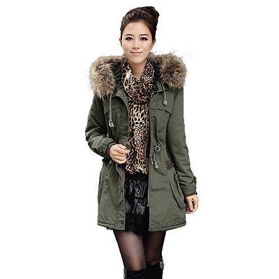 cd3d16a4d2f Mujer invierno abrigos de piel grande Collar de chaquetas de algodón  acolchado E