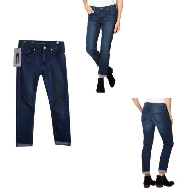 Calvin Klein Womens Slim Boyfriend Jeans Inkwell Blue Sz 4-12 New