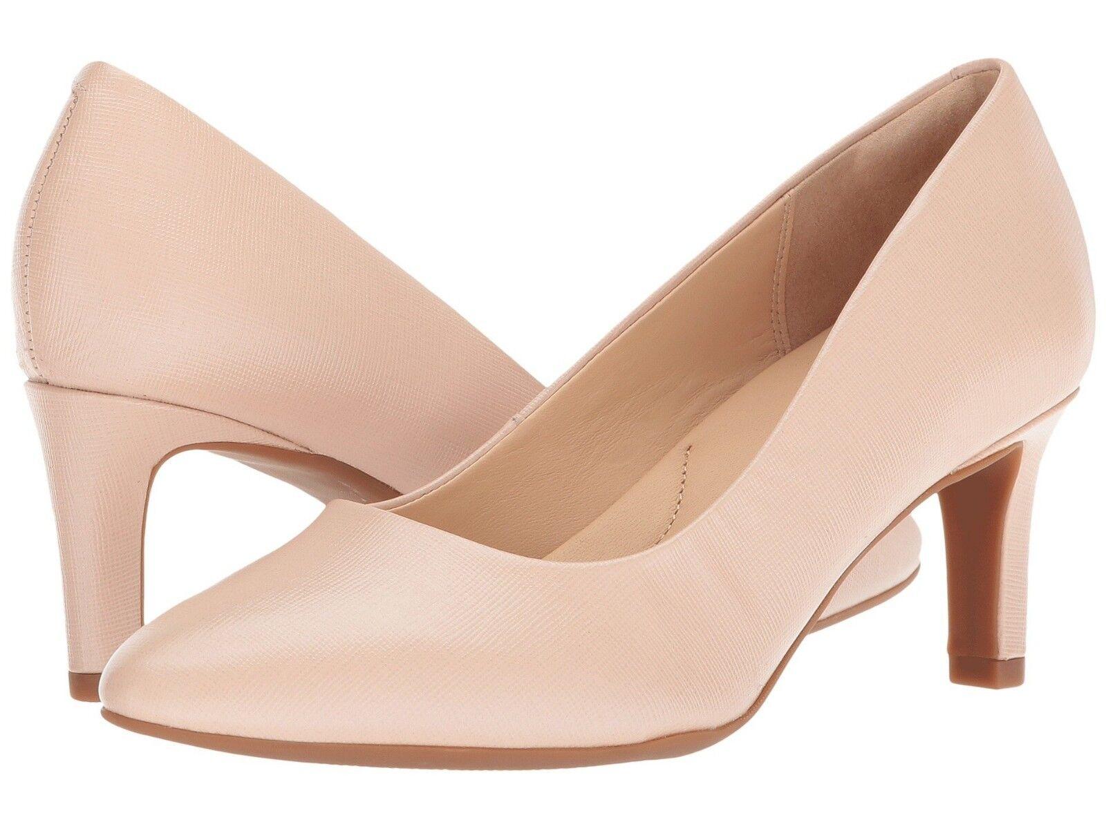 Negozio 2018 Donna    scarpe Clarks CALLA rosa Leather Closed Toe Pump 31856 Cream New  preferenziale