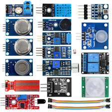 16 in 1 Sensor Modules Project Starter Kits for Arduino Raspberry Pi Smart Home