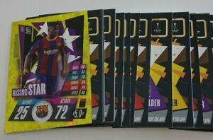 2020/21 Match Attax UEFA Champions - Lot of 20 cards incl Rising Star Ansu Fati
