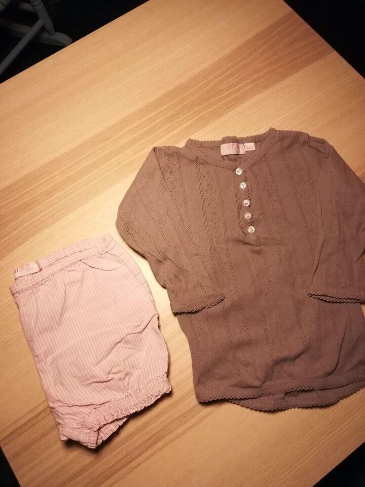 Blandet tøj, Bluse og shorts, Wheat