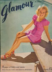 GLAMOUR-of-HOLLYWOOD-Vol-1-No-5-August-1939-Fashion-Magazine-SONJA-HENIE-Cover