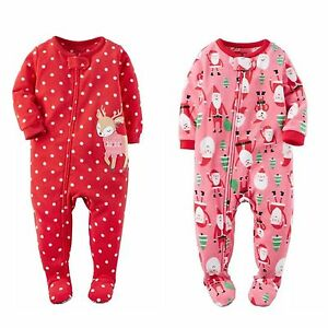 eaecb4ad3 Carter s One-Piece Footed Pajamas Pjs Girls clothes Size 8 10 NWT ...