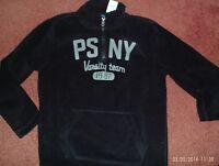 P.s. Aeropostale-- Size 10--- Black Pull Over Fleece Zip/kang Pocket