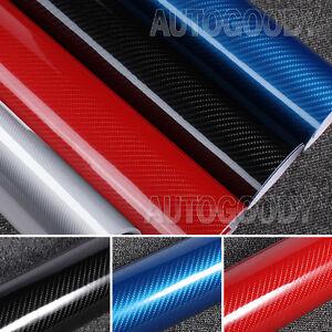 5D Premium HIGH GLOSS Carbon Fiber Vinyl Film Wrap Bubble Free Air Release 6D