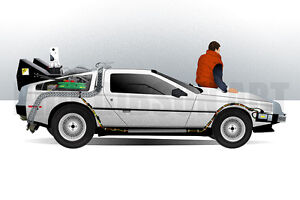 Back to the Future Car 1 2 3 Class Movie Art Silk Poster 12x18 24x36