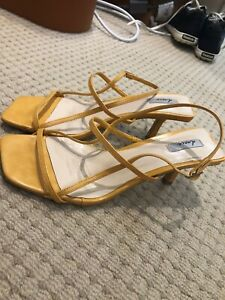 Strappi-Sandals-Sz-8-39-Rrp-90-Yellow-Low-Mid-Heel