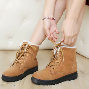 Women-039-s-Winter-Warm-Boots-Womens-Snow-Suede-Fabric-Classic-Fashion-Short-Boots