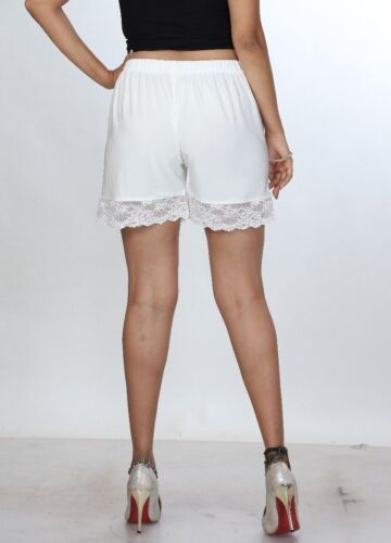 Women/'s High waist shorts Ladies White Light Weight Lace Girls Short Shorts