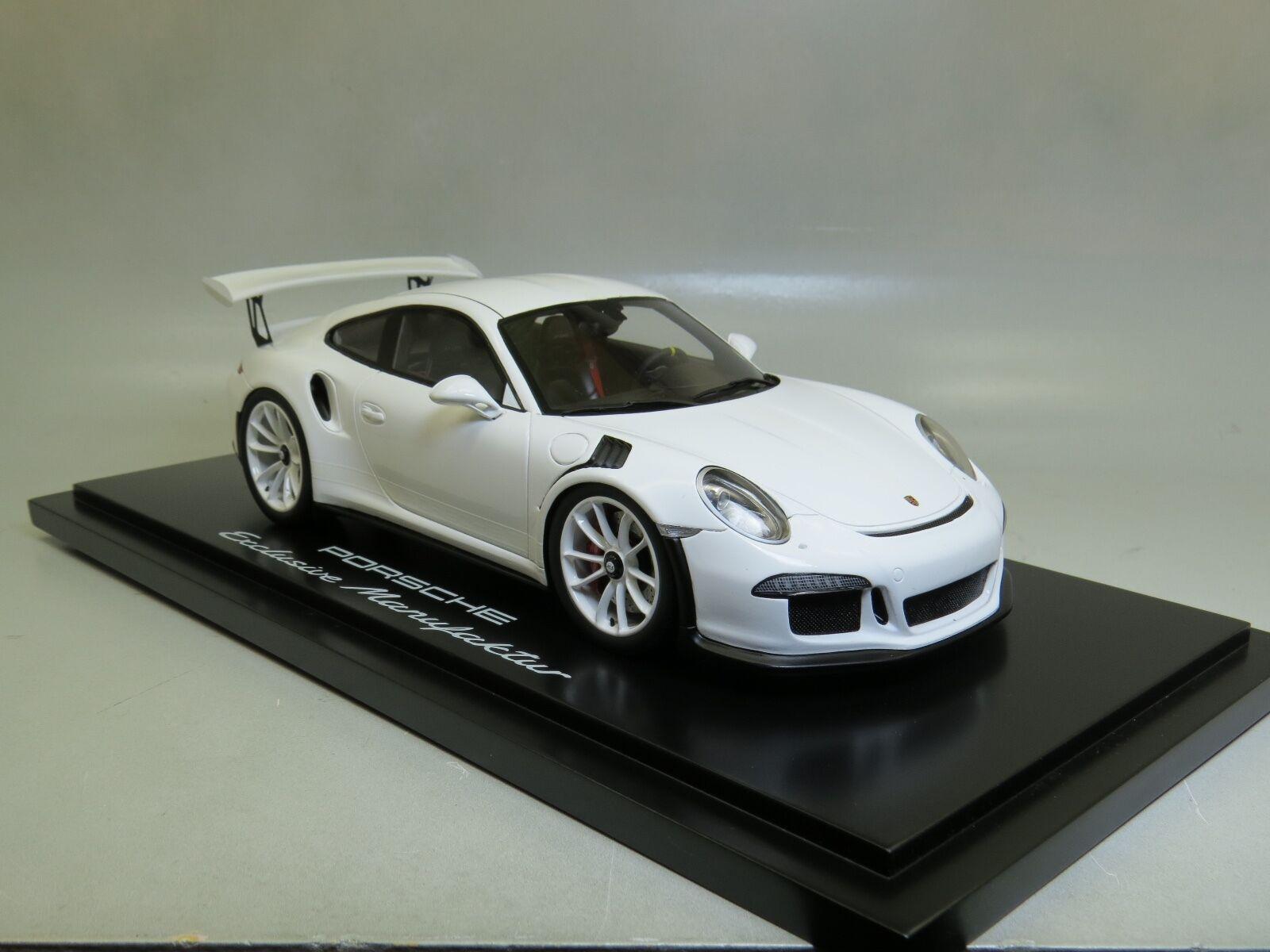 Porsche 911 991 Gt3 Rs Coupe IAA 2015 bianca Spark 1/18 1:18 WAX02100018