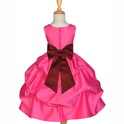 FREE S//H BRAND NEW PRINCESS PAGEANT CHRISTMAS HOLIDAY PARTY DRESS TIE BOW FLOWER