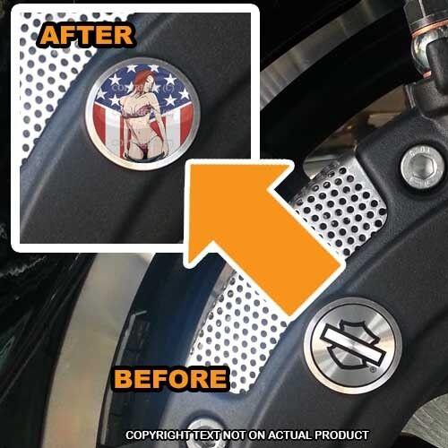 054 Brembo Front Brake Caliper Insert Set For Harley GIRL USA FLAG