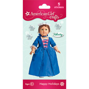 AMERICAN-GIRL-FELICITY-PUFFY-BUBBLE-STICKER-CHRISTMAS-GOWN-STOMACHER