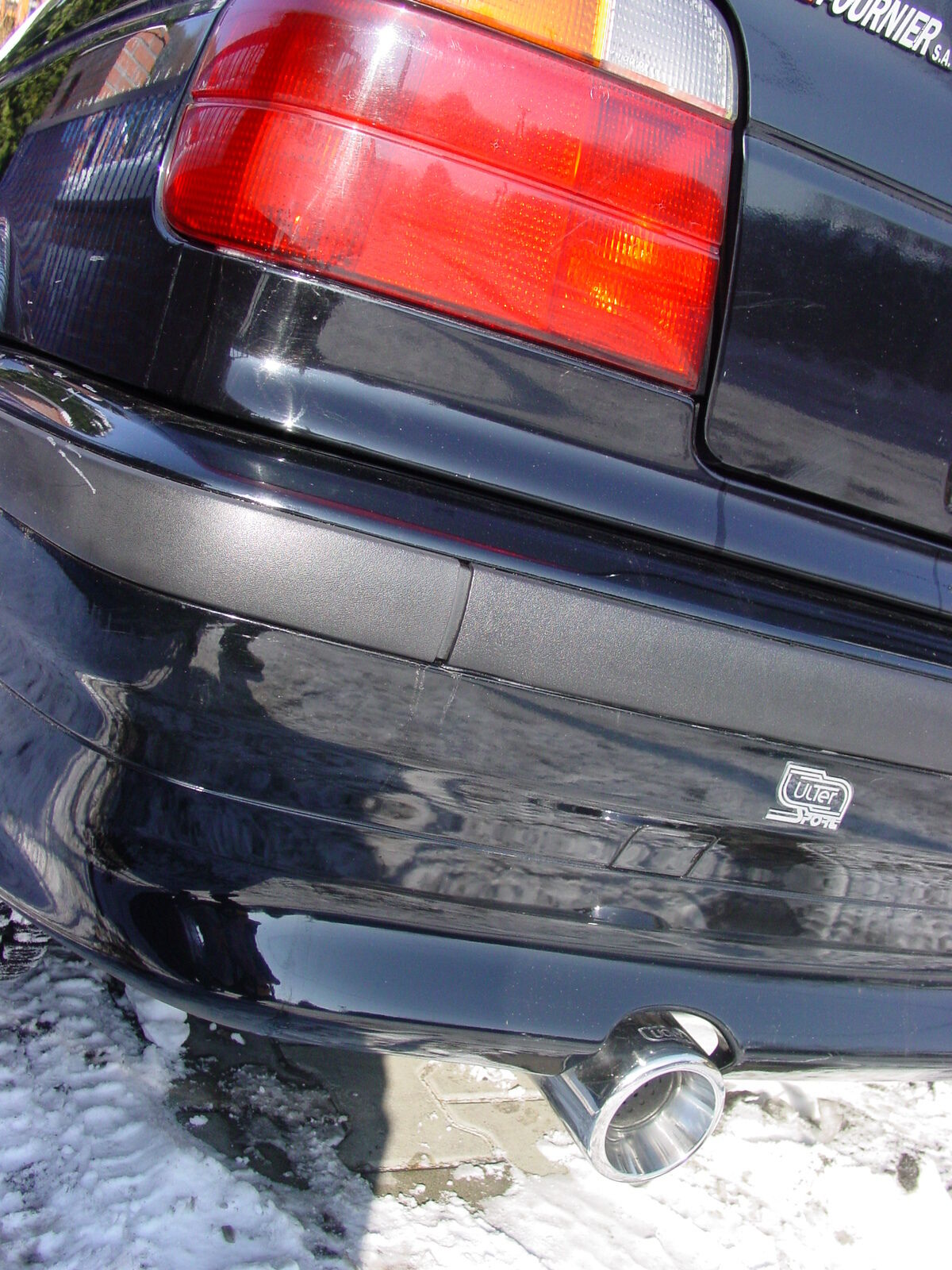 Ulter Sportauspuff BMW 3er E36 COMPACT 94-00 80mm rund eingerollt gerade