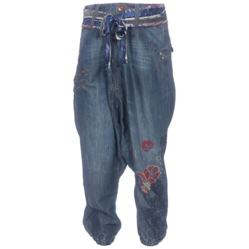 "Great Nwt £137 Desigual Embroidery Rrp Waist Jeans Fabulous 24' 26"" To U1qgEBwB"