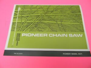 PIONEER-MODEL-2071-SERVICE-PROCEDURES-MANUAL-WITH-PARTS-LIST