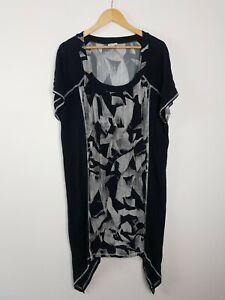TS-Taking-Shape-B-amp-W-Shift-Dress-Women-039-s-PLUS-Size-M-Angular-Asymmetrical-Hemline
