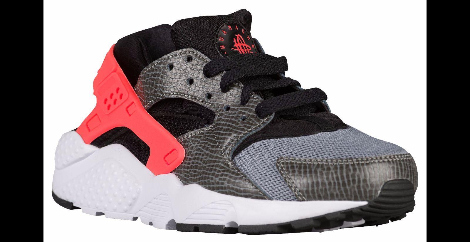 Nike Air Huaraches Run (GS) schwarz/rot Kinder/Junior Trainer alle Größen