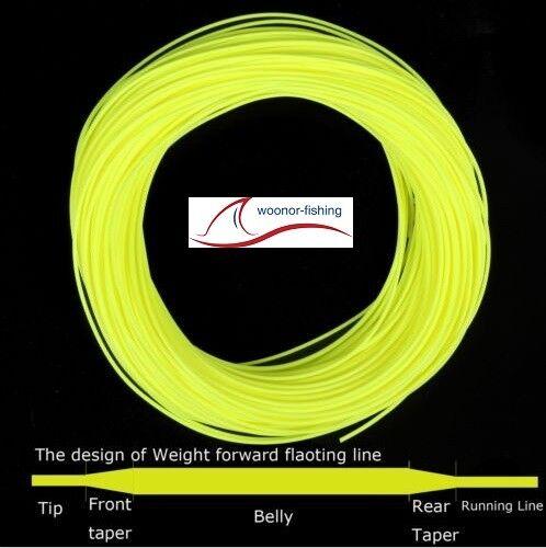 Fluo Yellow mit 2 welded Loops Fly-Line WF-3F bis WF-9F Fliegenschnur