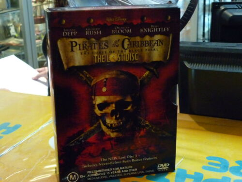 1 of 1 - PIRATES OF THE CARIBBEAN CURSE OF THE BLACK PEARL + THE LOST DISC (DVD, M)