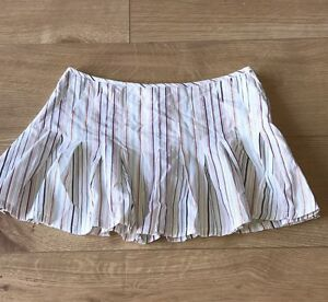 b594ea55a7 TOPSHOP STRIPED ULTRA SHORT FIT AND FLARE MINI SKIRT PETITE RANGE ...