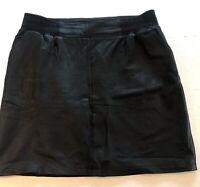 Skind nederdel, str. 42, Y.A.S, Sort, Skind